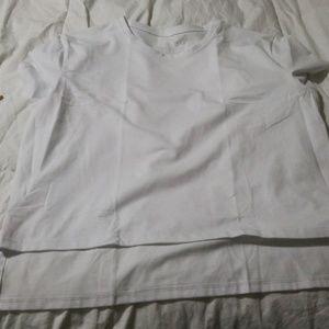 Alphalete white crop top